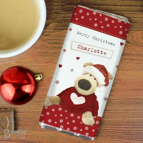 Personalised Boofle Christmas Love Chocolate Bar